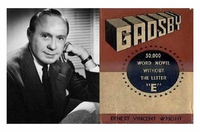 Эрнест Винсент Райт и его невозможный роман. \ Фото: 9gag.com.