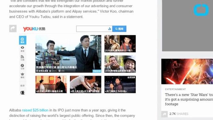 Сервис Youku Tudou. \ Фото: dailymotion.com.