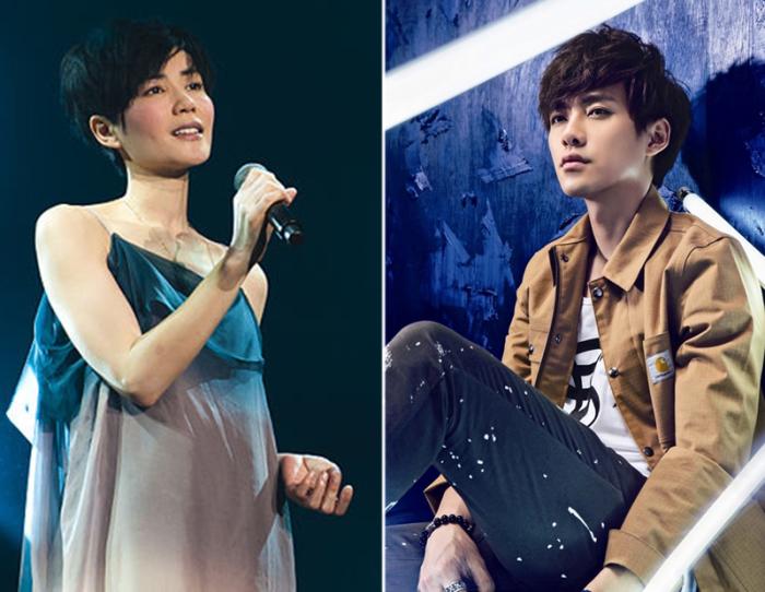 Слева: Певица Ван Фэй. \ Справа: Актёр Ли Вэй Фэн. \ Фото: google.com.ua.