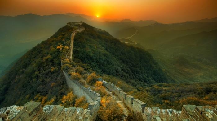 Восход солнца в Китае. \ Фото: luxfon.com.