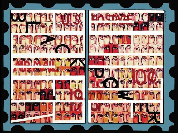 Серия Американский народ, №19: Почтовые марки США, Фейт Рингголд, 1967 год. \ Фото: happening.media.