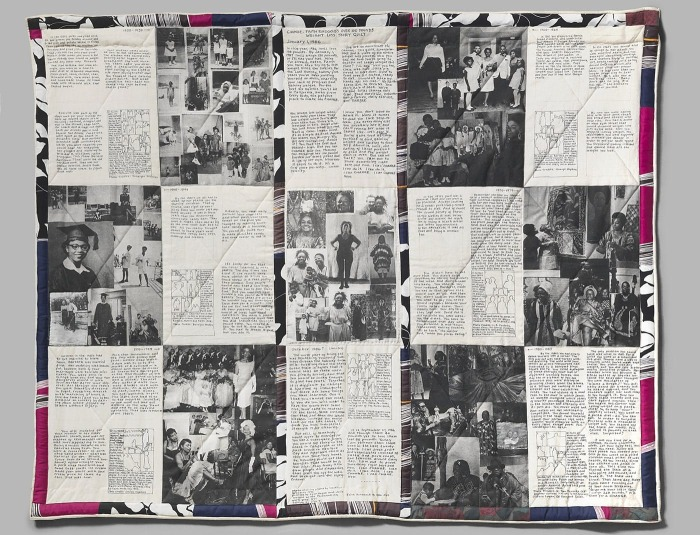 Стеганое одеяло, Фейт Рингголд, 1986 год. \ Фото: blogspot.com.