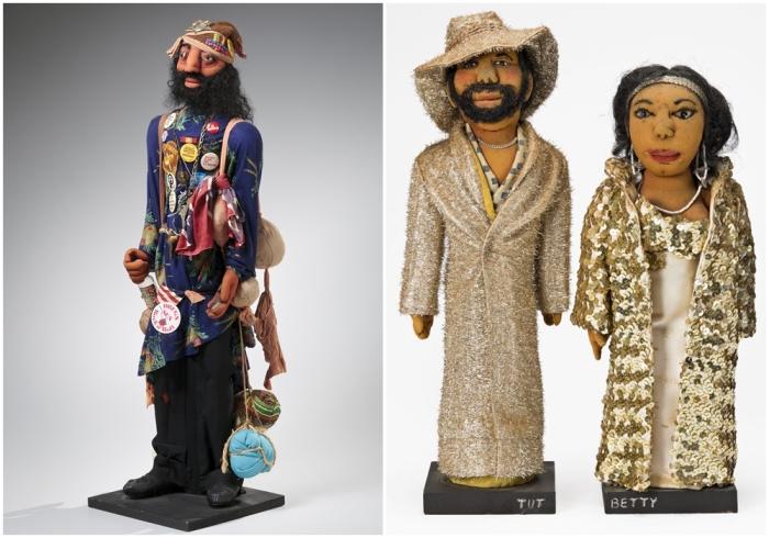 Слева направо: Скульптура Бен, Фейт Ринггольд, 1978 год. \ Тут и Бетти, Фейт Ринггольд, 1979 год.