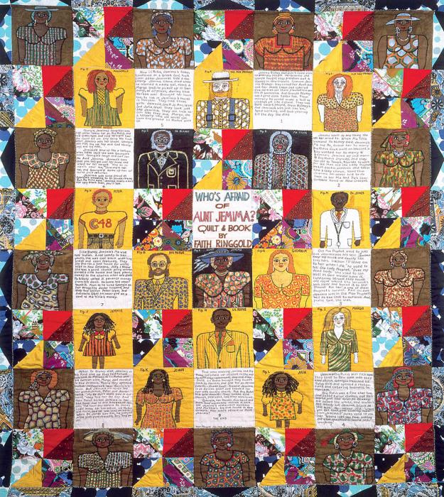 Одеяло: Кто боится тёти Джемаймы? Фейт Ринггольд, 1983 год. \ Фото: pinterest.com.