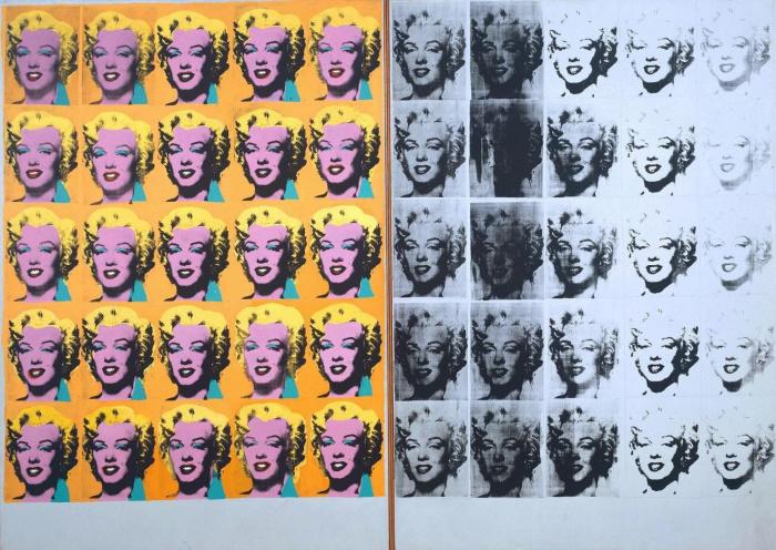 Легендарная работа под названием Мэрилин Диптих, Энди Уорлох, 1962 год.