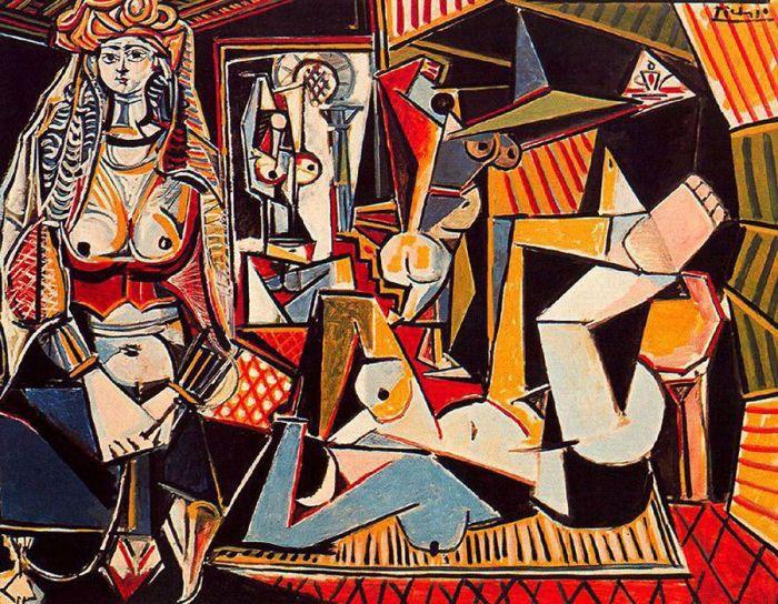 Женщины Алжира, 1955 год, Пабло Пикассо.