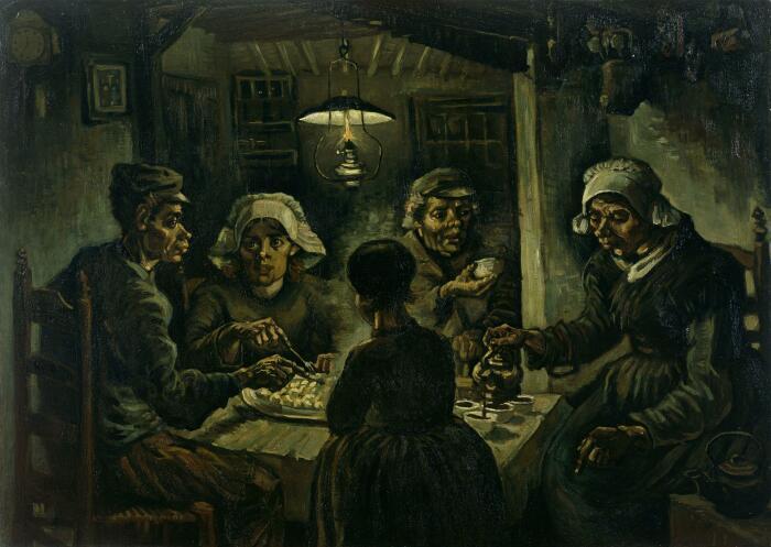 Едоки картофеля. \ Фото: ru.wikipedia.org.