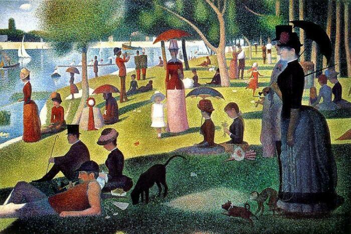 Воскресный день на острове Гранд-Жатт. \ Фото: impressionism.su.