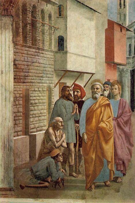 Святой Пётр исцеляет больного своей тенью. \ Фото: fulldp.co.