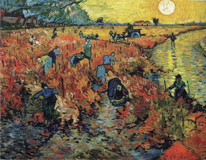 Красные виноградники в Арле. \ Фото: ru.wikipedia.org.