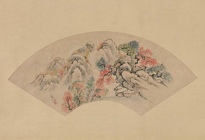 Осенний пейзаж Ике Гёкуран, XVIII век, музей Мет.