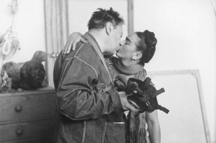 Фрида Кало и Диего Ривера. \ Фото: widewalls.ch.