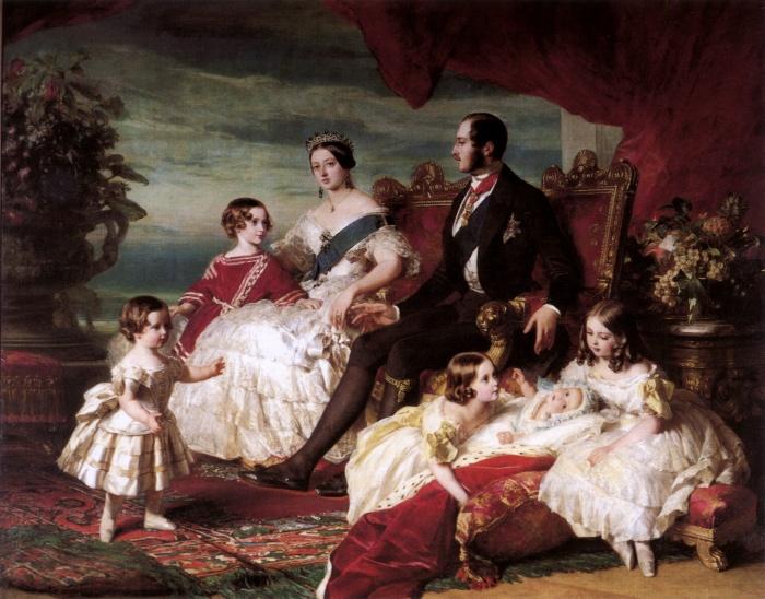 Принц Альберт, королева Виктория и их дети. \ Фото: cs.m.wikipedia.org.