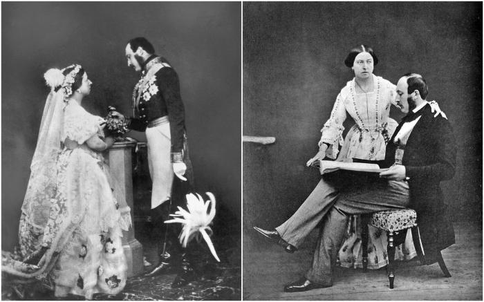 Королева Виктория и принц Альберт. \ Фото: pinterest.com.
