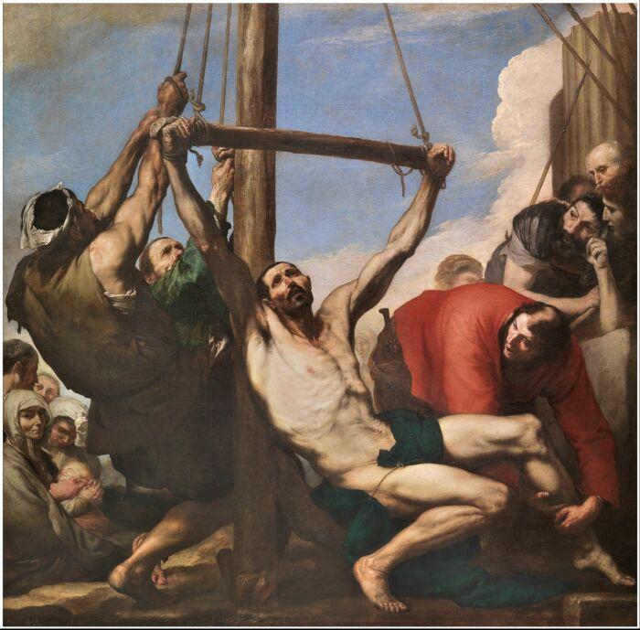 Мученичество святого Варфоломея, Хосе де Рибера. \ Фото: pinterest.es.