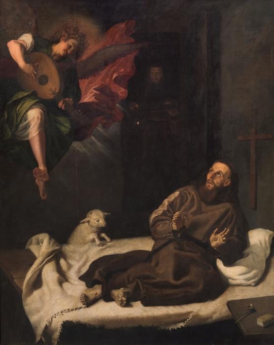 Святой Франциск, утешенный ангелом, Франсиско Рибальта. \ Фото: google.com.