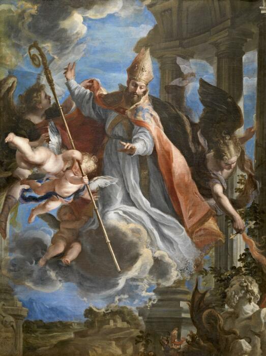 Триумф Святого Августина, Клаудио Коэльо. \ Фото: peregrinosdelaeucaristia.org.