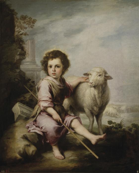 Добрый пастырь, Бартоломе Эстебан Мурильо. \ Фото: es.wikipedia.org.