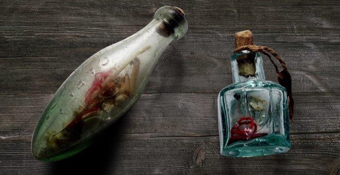 Ведьмина бутылка. \ Фото: thevintagenews.com.