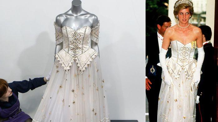 Бальное платье принцессы Дианы. | Фото: slice.ca.