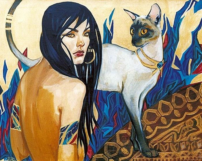 Кошки. Автор: Fattah Hallah Abdel.
