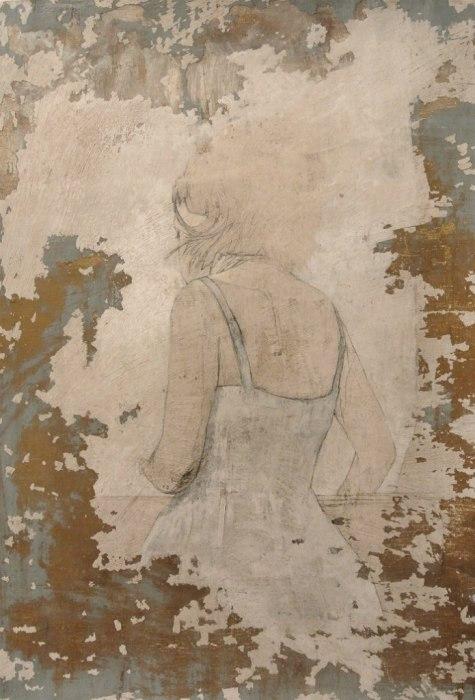 Призрачный силуэт девушки. Автор работ: Федерико Инфанте (Federico Infante).