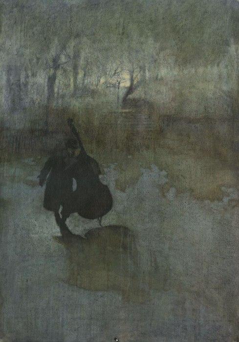 Одинокая фигура музыканта. Автор работ: Федерико Инфанте (Federico Infante).