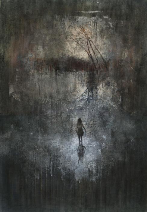 Одинокая девочка в призрачном городе. Автор работ: Федерико Инфанте (Federico Infante).