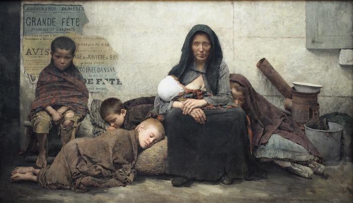 Бездомные, 1883 год, Малый Дворец, Париж. Автор: Fernand Pelez.