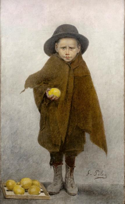 Маленький продавец лимонов, 1895-1897 гг., Музей изящных искусств, Шамбери. Автор: Fernand Pelez.