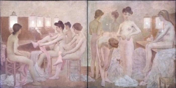 Танцовщицы, 1905 год, Малый Дворец, Париж. Автор: Fernand Pelez.