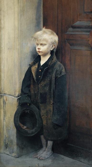 Маленький нищий, 1886 год, Малый Дворец, Париж. Автор: Fernand Pelez.