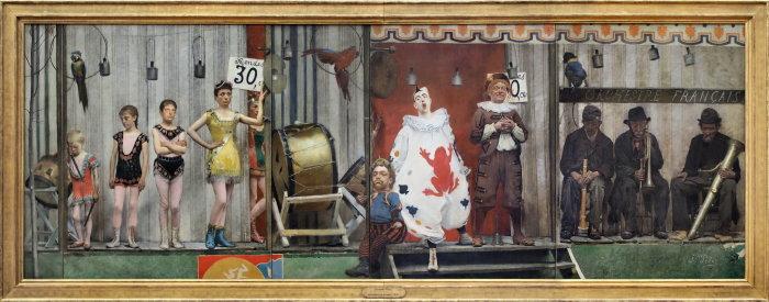Маски и страдания: Бродячие артисты, 1888 год, Малый Дворец, Париж. Автор: Fernand Pelez.