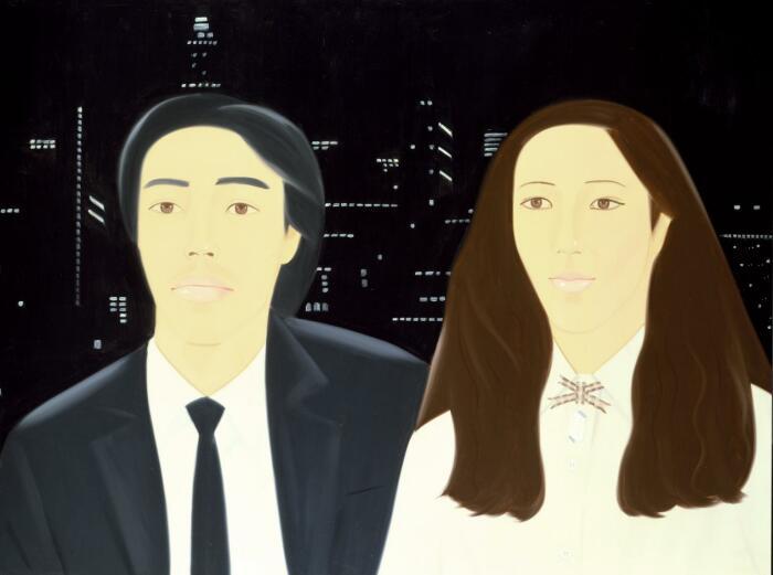 Хироси и Марсия, Алекс Кац, 1981 год. \ Фото: tate.org.uk.