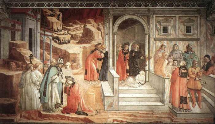 Диспут в синагоге Филиппо Липпи, 1452 год. \ Фото: aboutartonline.com.