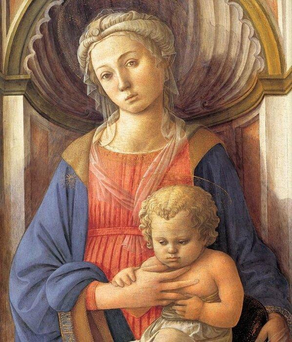 Мадонна с младенцем, Филиппо Липпи, 1440 год. \ Фото: m.post.naver.com.