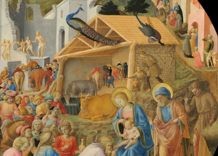 Фрагмент: Поклонение волхвов, Фра Анджелико и Филиппо Липпи, 1440-60 гг. \ Фото: bishopandchristian.com.