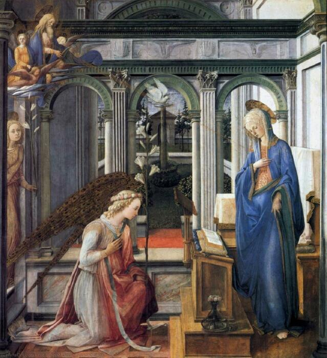 Благовещение, Филиппо Липпи, 1443 год. \ Фото: semanticscholar.org.