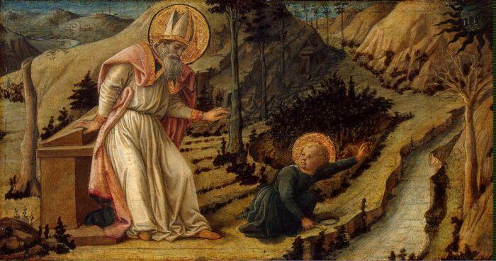 Видение св. Августин, Филиппо Липпи, 1460 год. \ Фото: apotis4stis5.com.