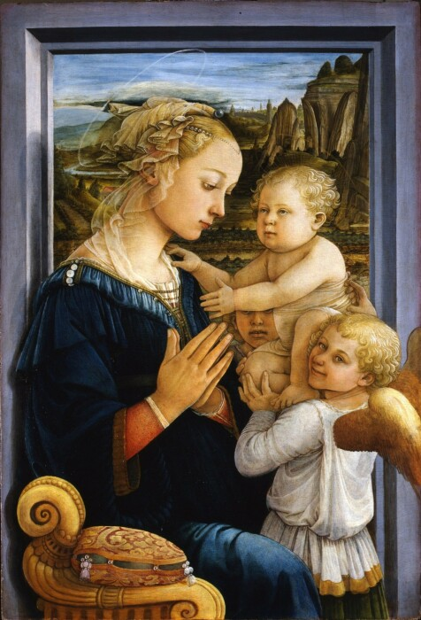 Мадонна с младенцем и двумя ангелами, Филиппо Липпи, 1460-65 гг. \ Фото: matthewmarks.com.