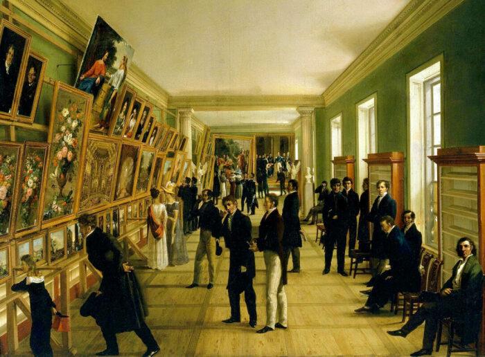 Выставка изящных искусств в Варшаве в 1828 году. \ Фото: stanhopecooper.com.