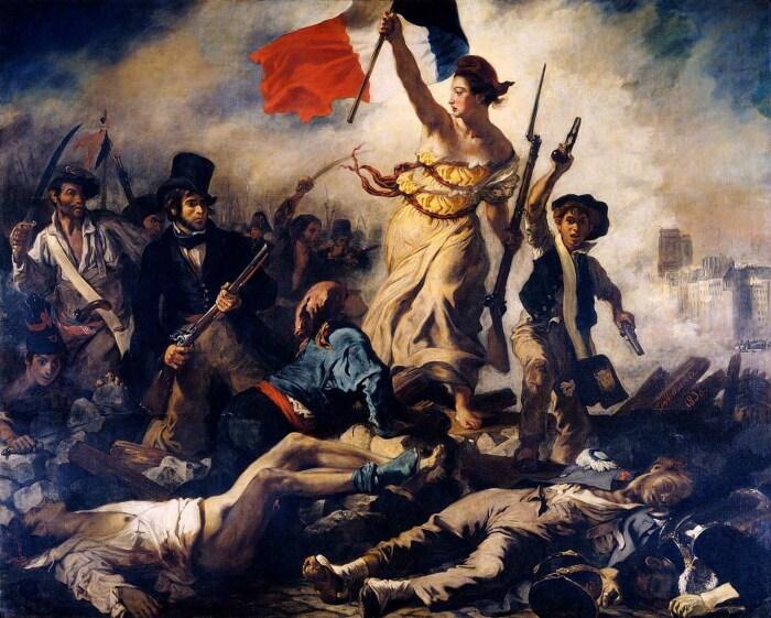 Свобода, ведущая народ, Эжен Делакруа. \ Фото: britannica.com.
