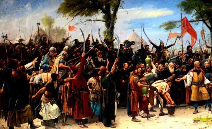 Фрагмент картины Завоевание родины. \ Фото: google.com.
