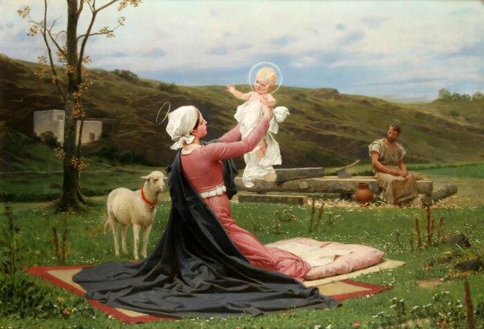 Святое семейство. \ Фото: br.pinterest.com.