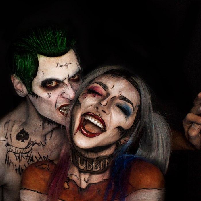 Джокер и Харли Квинн из отряда самоубийц. Автор: Florea Flavia.