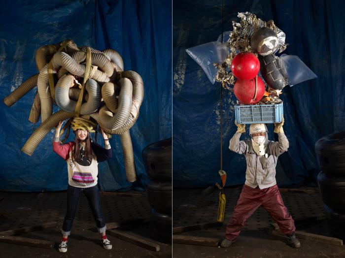 Сколько вещей может унести на голове обычный человек. Фотопроект Флориана де Лассе (Floriane de Lassee).