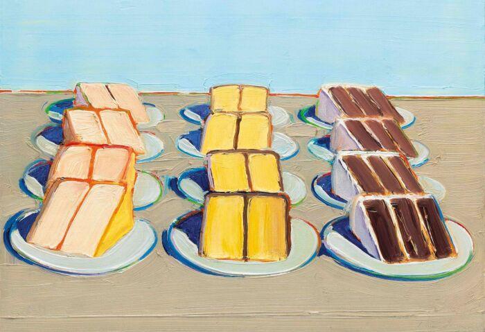 Ряды тортов, Уэйн Тибо, 1962 год. \ Фото: topys.cn.