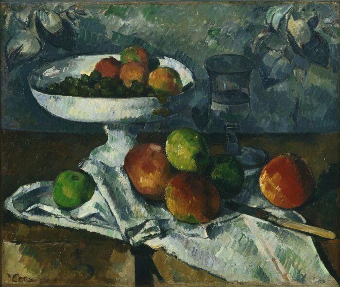Натюрморт с фруктовым блюдом, Поль Сезанн, 1879-80 гг. \ Фото: pinterest.ru.