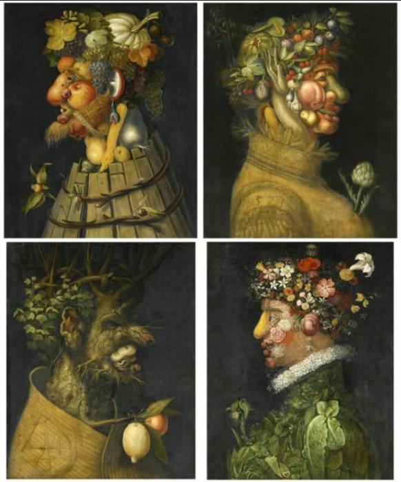 Четыре сезона (Времена года), Джузеппе Арчимбольдо, 1573 год. \ Фото: wordpress.com.