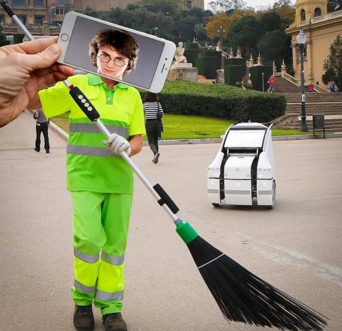 Неужели в Министерстве магии такие низкие зарплаты, что Гарри приходится подрабатывать? Автор: Francois Dourlen.